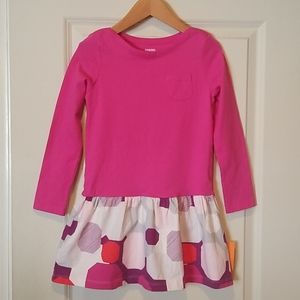 NWT Gymboree Hot Pink Geo Easter Dress